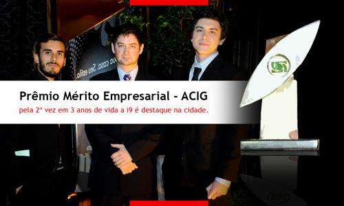 i9ers na cerimônia de recebimento do Prêmio Mérito Empresarial