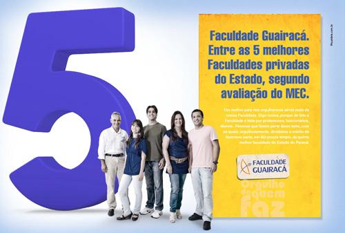 5ª posição das Faculdades privadas do Paraná