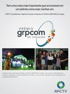 Anúncio Revista Visual do recebimento do prêmio